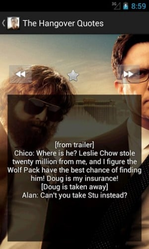 View bigger - The Hangover Quotes for Android screenshot