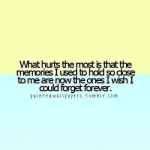 wish I could forget