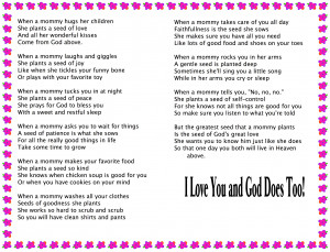 Mothers Day Poems And Prayers
