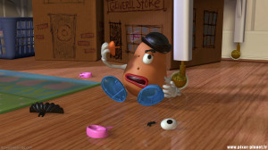 Mr. Potato Head : Hey, Hamm! Look! I'm Picasso!