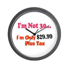 Funny Turning 30 years old sayings Wall Clock