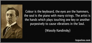 Colour is the keyboard, the eyes are the hammers, the soul is the ...