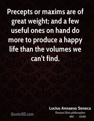 ... hand do more to produce a happy life than the volumes we can't find