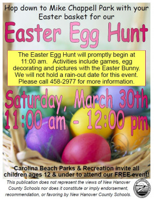 Easter Egg Hunt Saturday March
