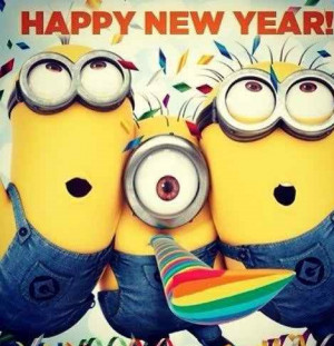 Minion Happy New Year Wallpaper