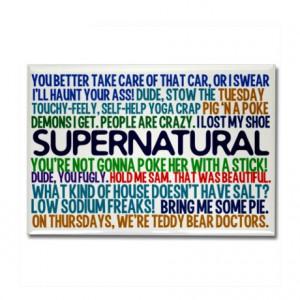 Supernatural TV Show Rectangle Magnet