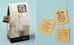 Love these tea bags with cool little sayings about books - perfect for ...
