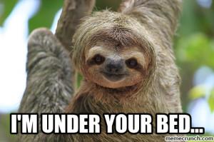 Generate a meme using sloth