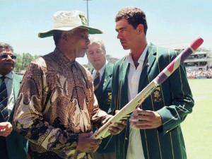 January 1997: Mandela and Proteas captain Hansie Cronje