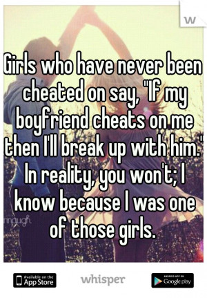who have never been cheated on say,