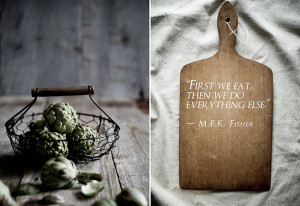 ... this? Words to live by from the heroine of food writing, MFK Fisher