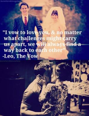 ... leo the vow rachel mcadams paige channing tatum love quotes vow