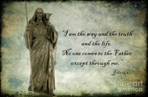 Jesus - Christian Art - Religious Statue Of Jesus - Bible Quote ...