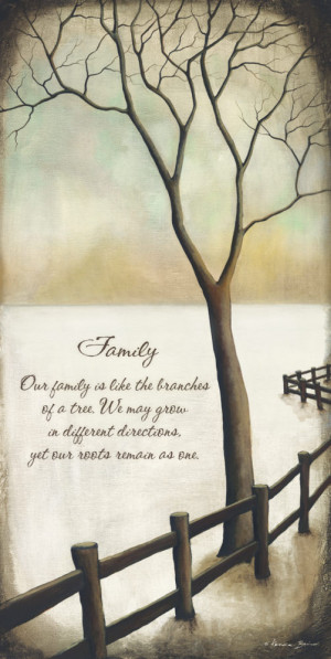 Family is Like the Branches of a Tree by Kendra Baird Landscape Sign ...