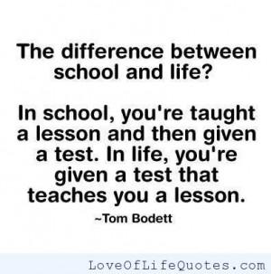 Tom Bodett quote on life lessons