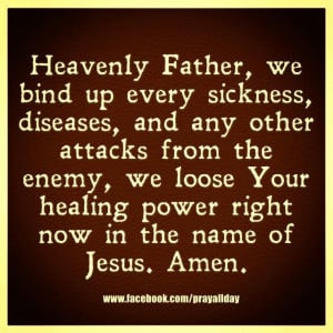 Loose your healing power...