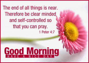 ... so that you can pray - Good Morning Bible Verse Greetings in English
