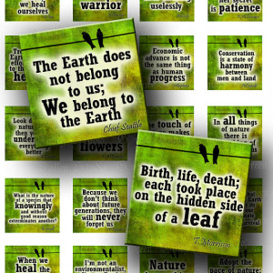 Mother Earth Quotes Nature Love Phrases Digital Images Sheet Two Sizes ...