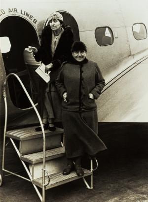 Gertrude Stein and Alice B Toklas , United Air Lines , Photo Carl Van ...