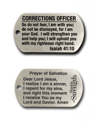 corrections officer dog tag chain necklace