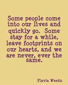 Footprints On Your Heart Quote