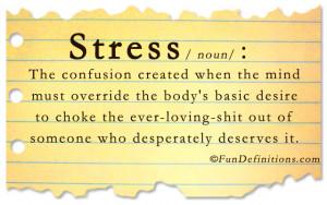 Fun Definitions – Stress
