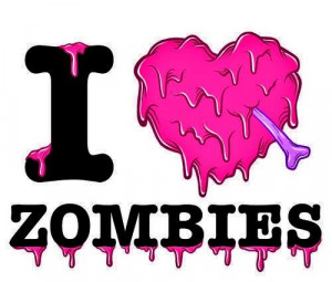 Love Zombies Heart Quote