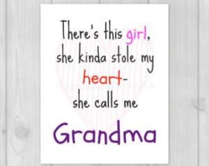 ... Grandma Quote - Gift for Grandma - Grandmother Quote - Art Print 8x10