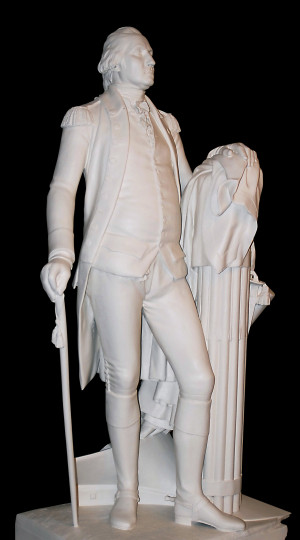 The 19th-century plaster statue of George Washington by William James ...