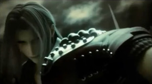 Sephiroth fighting Tifa in the opening FMV.