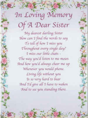 Loss Of A Sister Quotes And Sayings Quotesgram