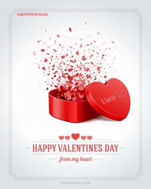 Happy Valentines Day Opne Red Heart Gift Idea for Him Men eCard ...