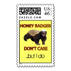 Honey Badger Don't Care, Funny, Cool, Nasty B'Day Postage Stamps