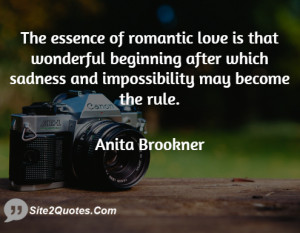 The essence of romantic love is that wonderful beginning after which ...