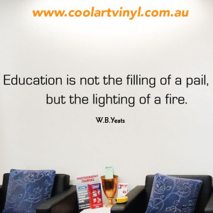Education Wall Quote