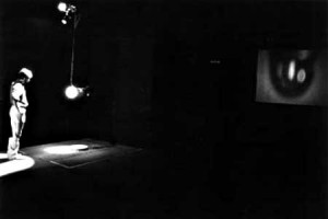 Bill Viola He Weeps for You installation 1976