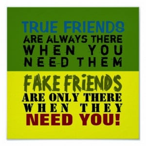 TRUE FRIENDS VS. FAKE FRIENDS