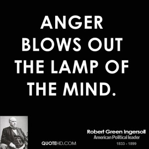 Anger blows out the lamp of the mind.