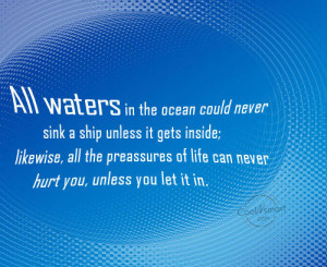 Hurting Inside Quotes And Sayings Failure quote: all waters in