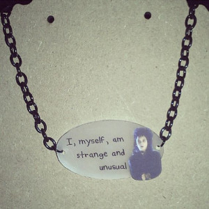 Beetlejuice Lydia Deetz Quote necklace by wearbyclaire on Etsy, $16.00