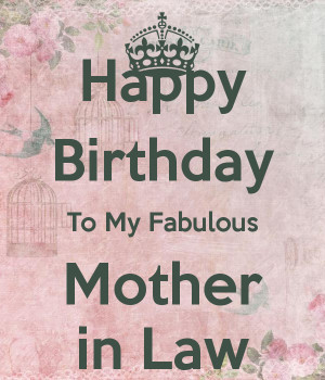 happy birthday to my mother in law png