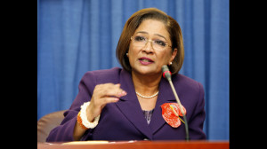 Trinidad and Tobago Prime Minister, Kamla Persad-Bissessar.