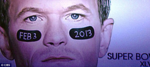 ... gay agenda after wearing Tim Tebow-style face paint in Super Bowl ad