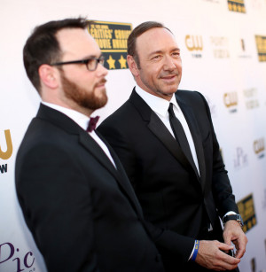 Dana Brunetti Producer Dana Brunetti L and actor Kevin Spacey attend