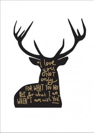 Love Quote Deer Print A4 - I Love you quote on Etsy, $22.97