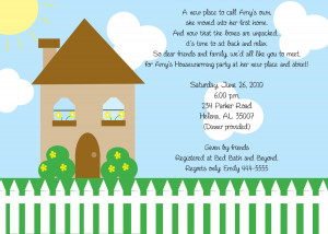 Housewarming Party Invitation Ideas