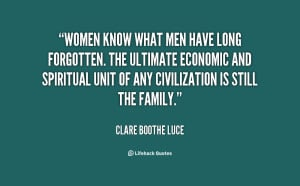 Women know what men have long forgotten. The ultimate economic and ...