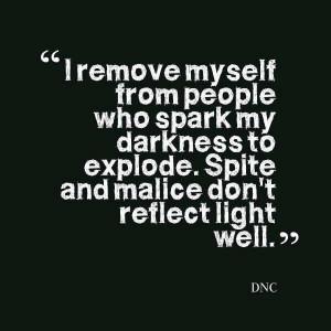 Spite and malice don't reflect light