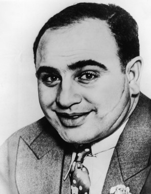 American gangster Al Capone ('Scarface') (1899 – 1947) poses for ...