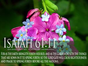 Bible Verses On GOD's Love Isaiah 61:11 Flower HD Wallpaper